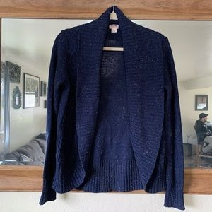 Missimo Knit Cardigan Speckled / Dark Blue